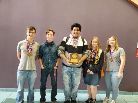 (Pictured left to right) Kade Brackin, Sam Payne, Juan Sanchez, Alyscia Patton and Sophie Enloe