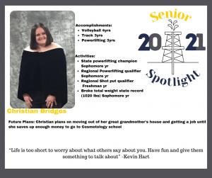 2021 Senior Christian Bridges