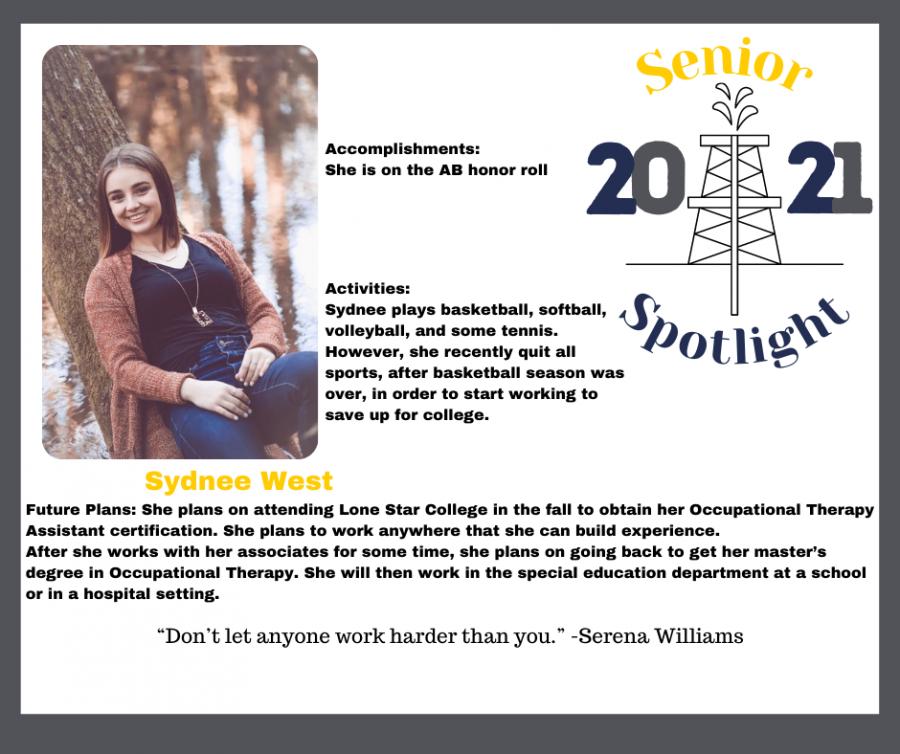 2021 Senior Sydnee West