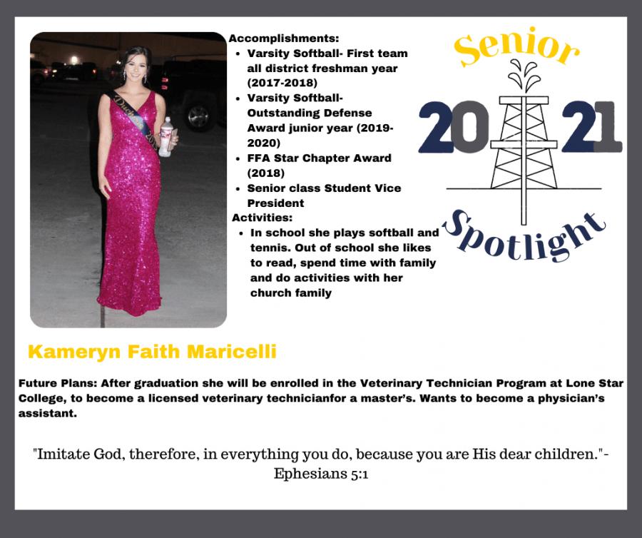 2021 Senior Kami Maricelli