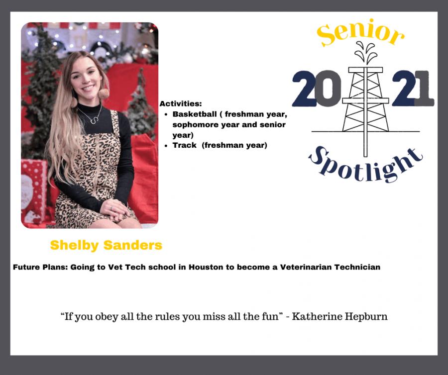2021 Senior Shelby Sanders