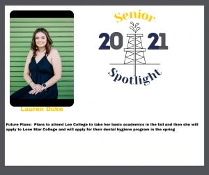 2021 Senior Lauren Duke